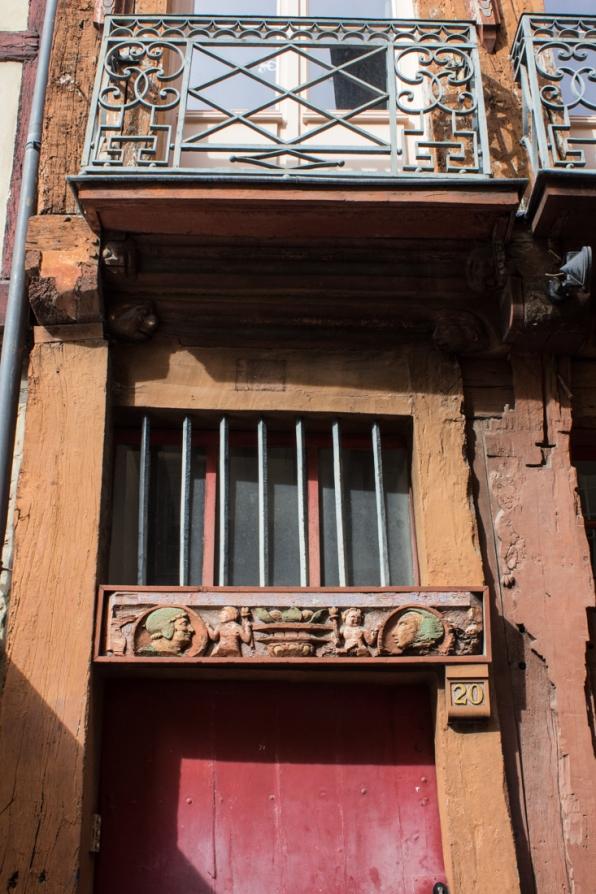 Details on house, Rennes