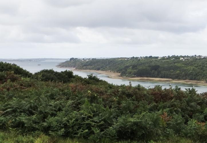 Looking of the Anse de l'Auberlac'h towards the Rade de Brest