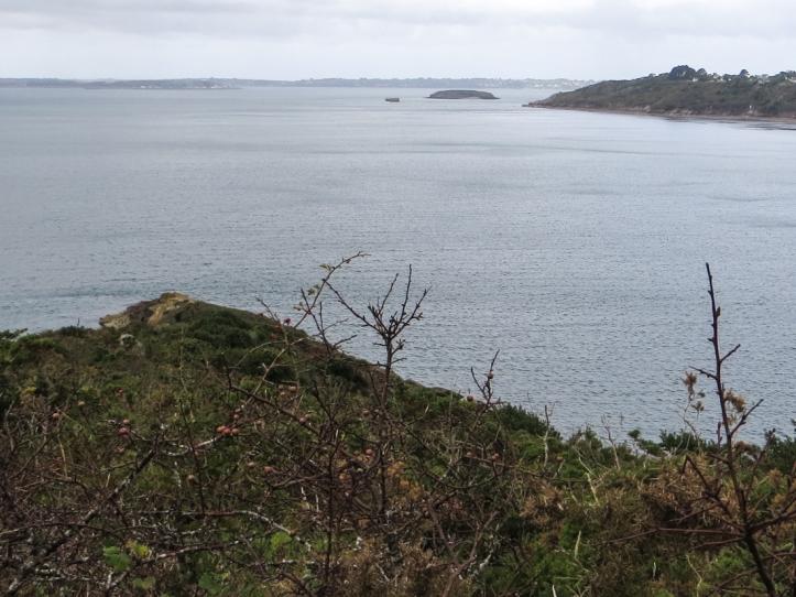 The Pointe l'Armorique and beyond that the Rade de Brest