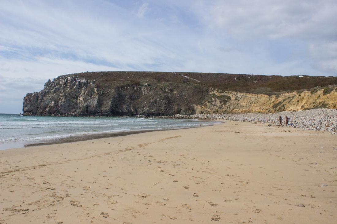 Walking the coastal path overlooking the Anse de Pen Hat