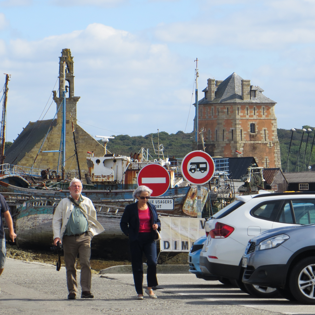 The Old Port of Camaret with the Chapel of Notre Dame de Rocamadour and the Vauban Tower