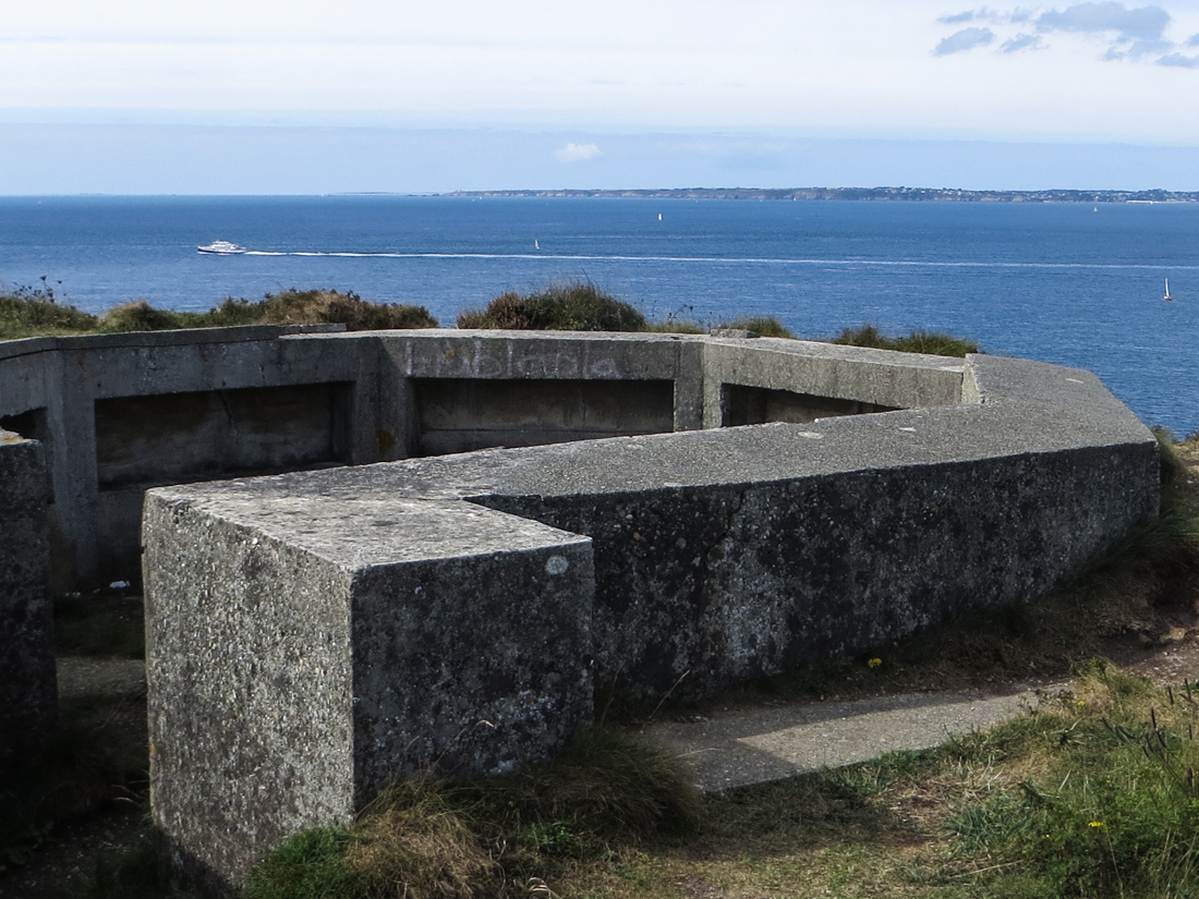 German WWII fortifications overlooking the Rade de Brest