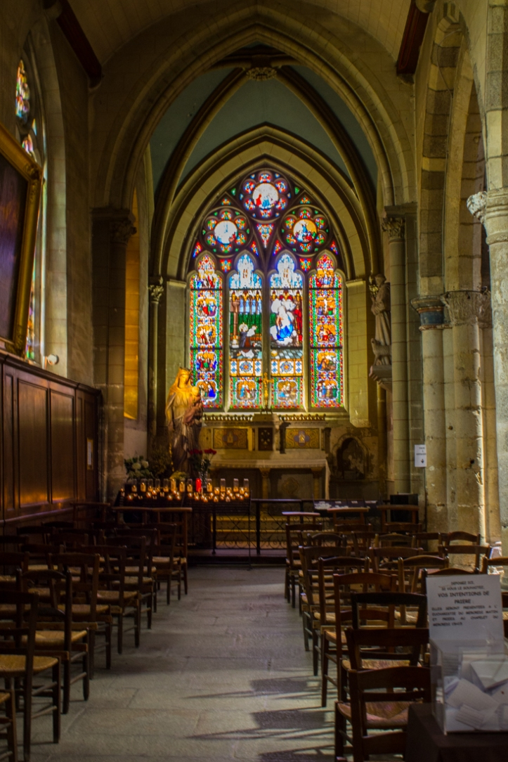 A side chapel in the Abbey of St Melaine, Rennes
