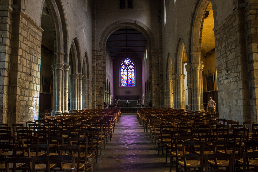 The nave of the Abbey of St Melaine, Rennes