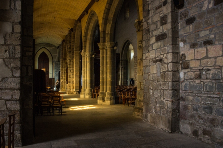 A side aisle of the Abbey of St Melaine, Rennes