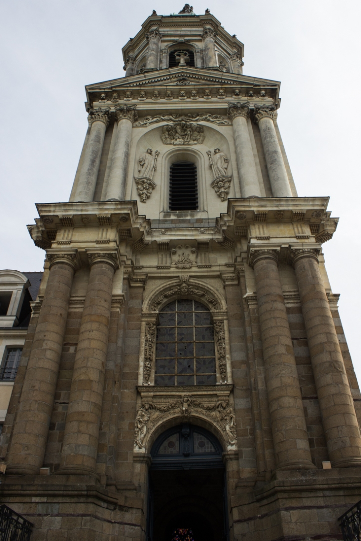 The tower of the Abbey of St Melaine, Rennes
