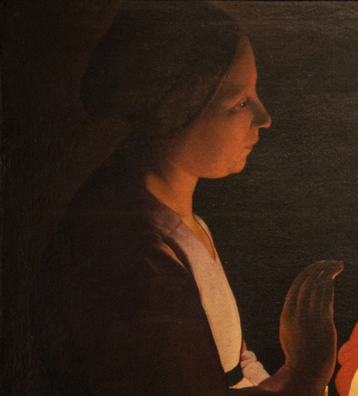 Detail from 'The New Born', Georges de la Tour