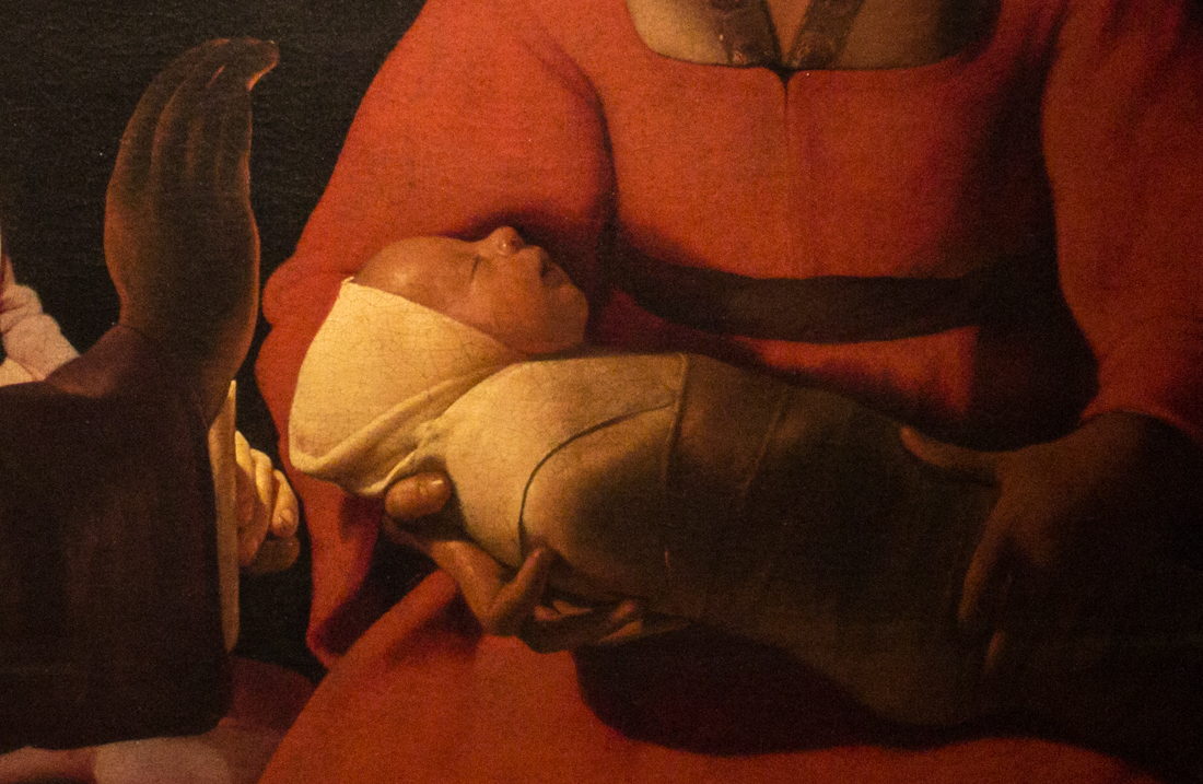 Detail from 'The New Born', Georges de la Tour