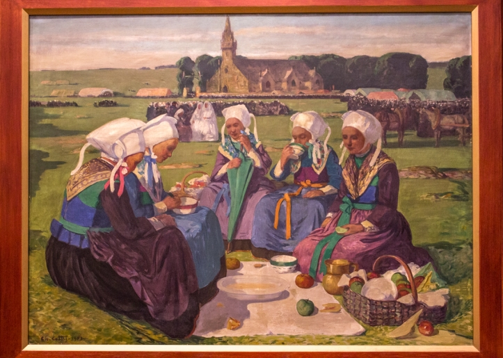 Charles Cottet, 'Women of Plougastel at the Pardon of Sainte Anne of Palud', 1903