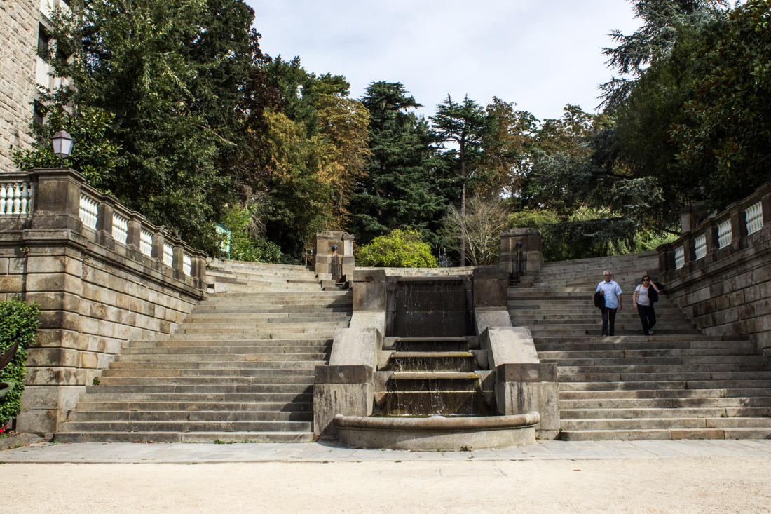 The entrance to the Gardens in the Rue de Paris