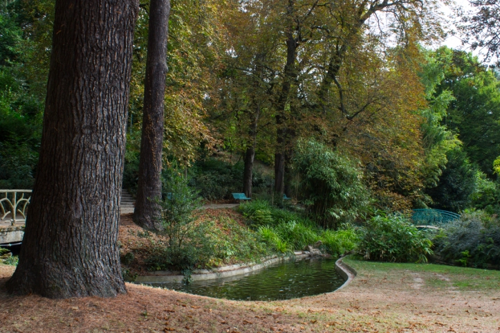 The waterway in the 'Catherinettes' Garden, Thabor Gardens, Rennes