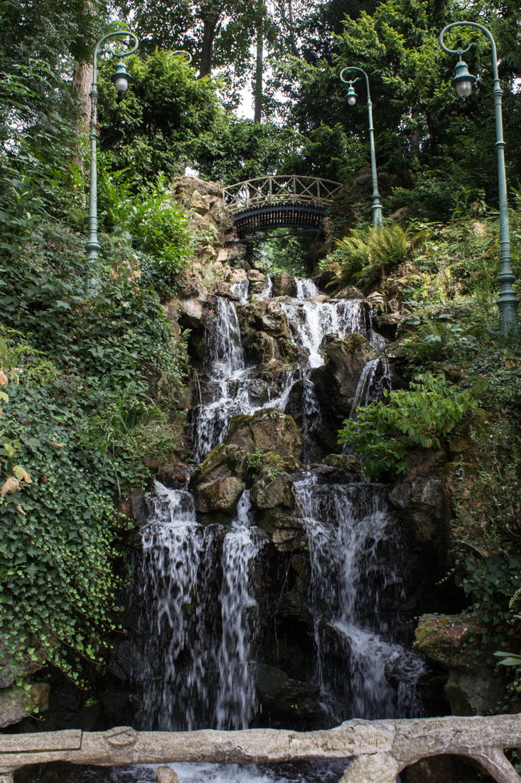 The waterfall in the 'Catherinettes' Garden, Thabor Gardens, Rennes