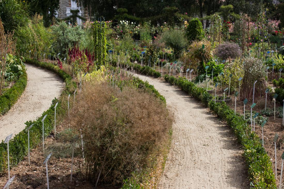 The circular Botanical Gardens in the Thabor Gardens