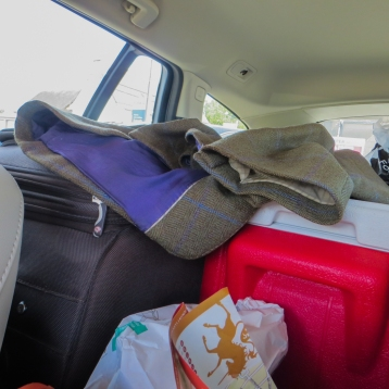 A loaded car!
