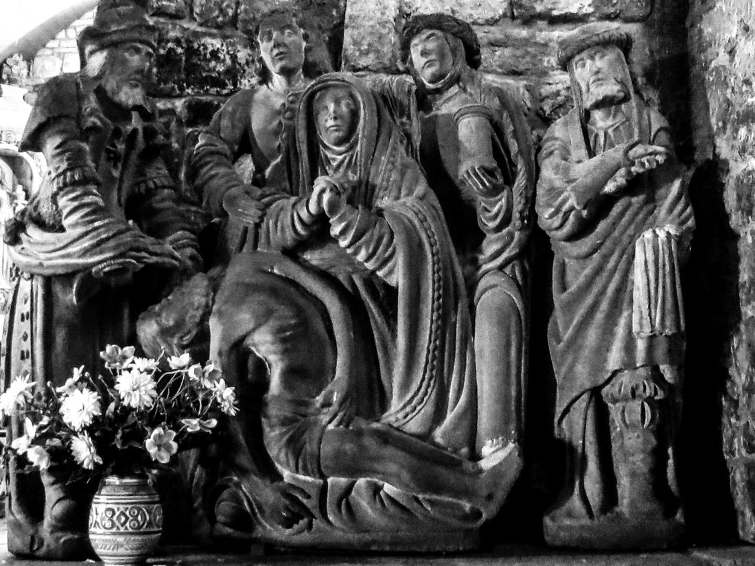 A Pieta inside the Chapel of Notre Dame de Bonne Nouvelle, Locronan