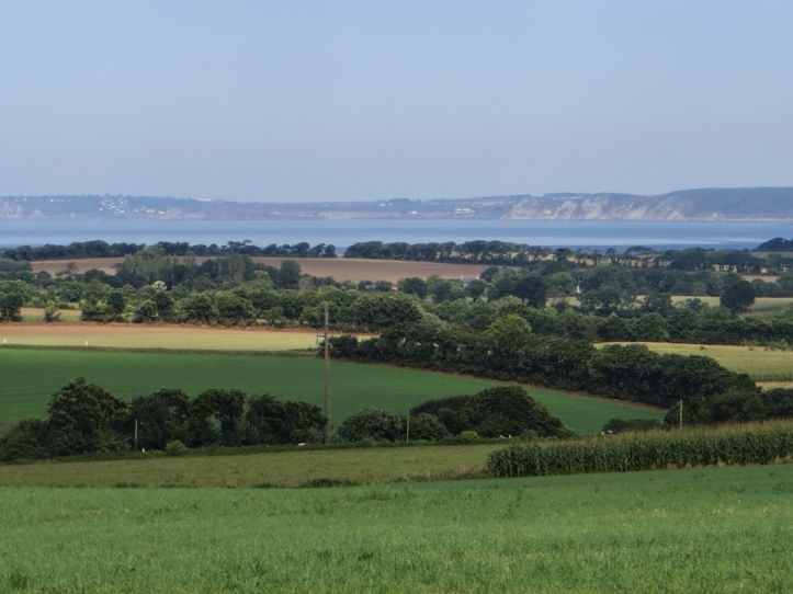 The countryside around Locronan with views over the Bay of Duarnenez