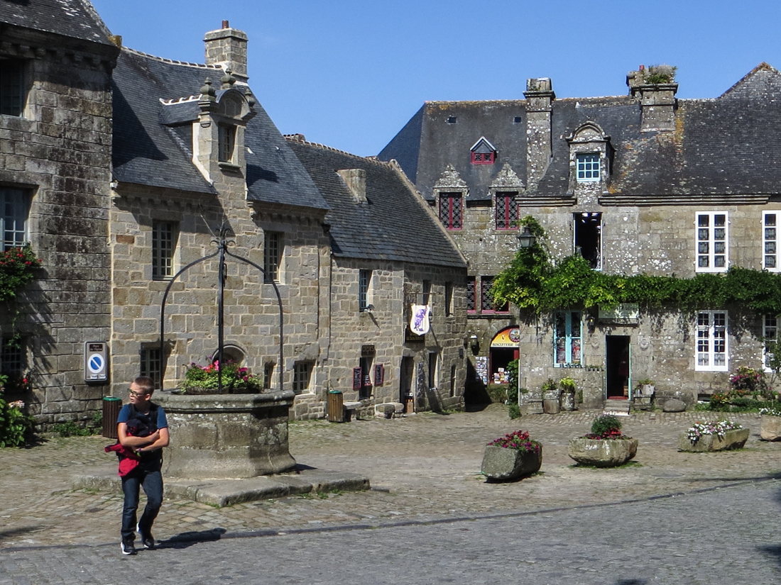 The main square, Locronan