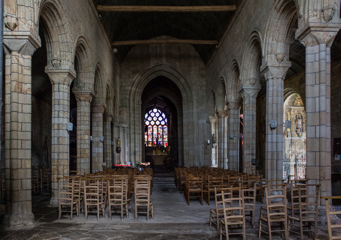 The Nave, the heart of the original Chapel to the Castle of Pont Croix