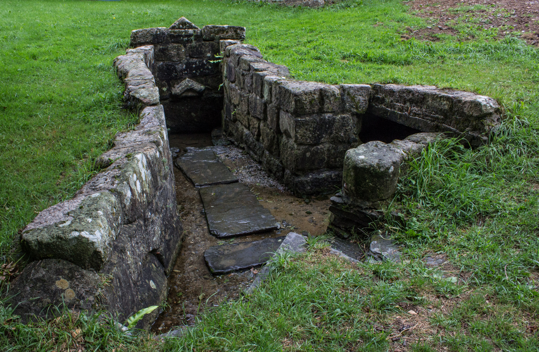 One of the fountains at the Chapel of Loc Ildut