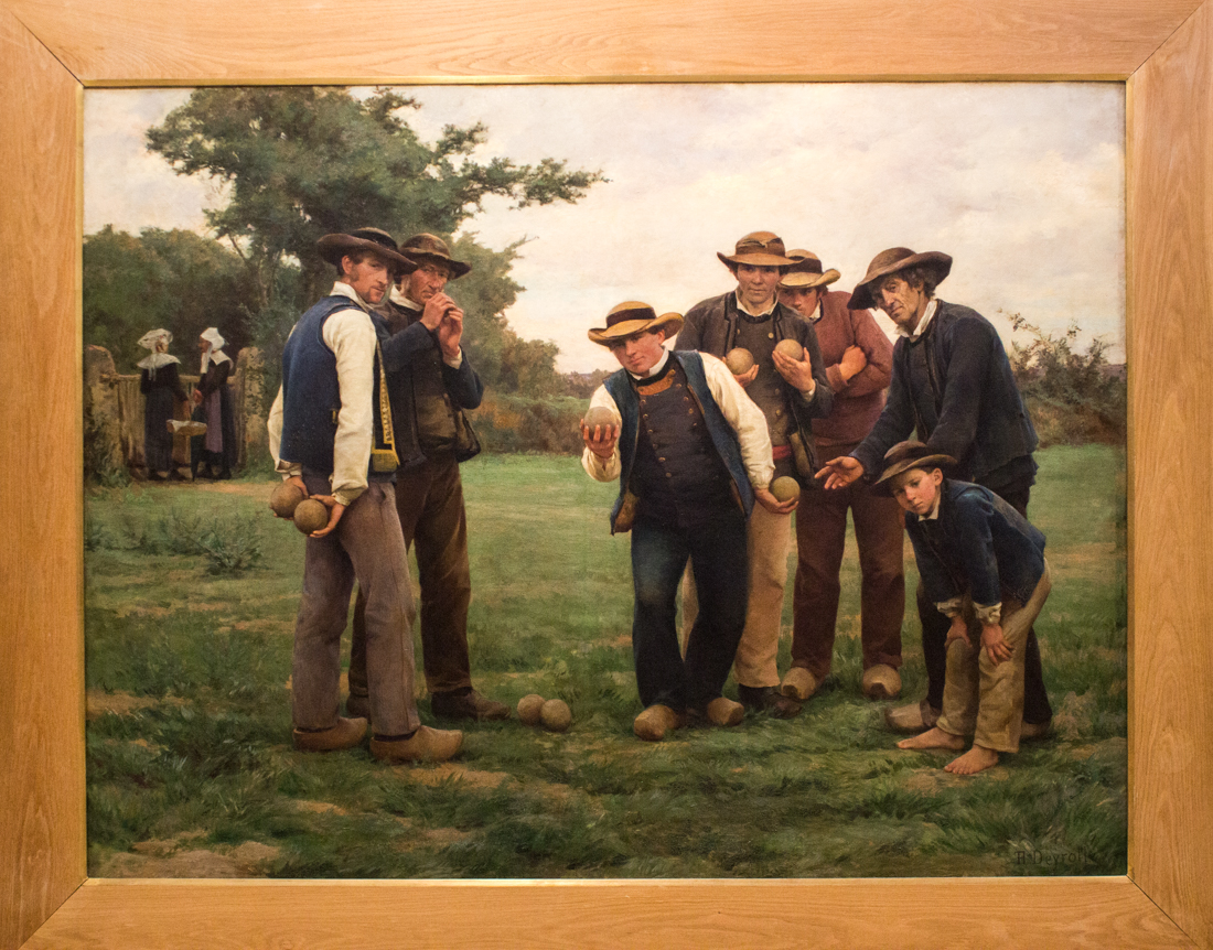Theophile Deyrolles (c.1887): The Boules Players