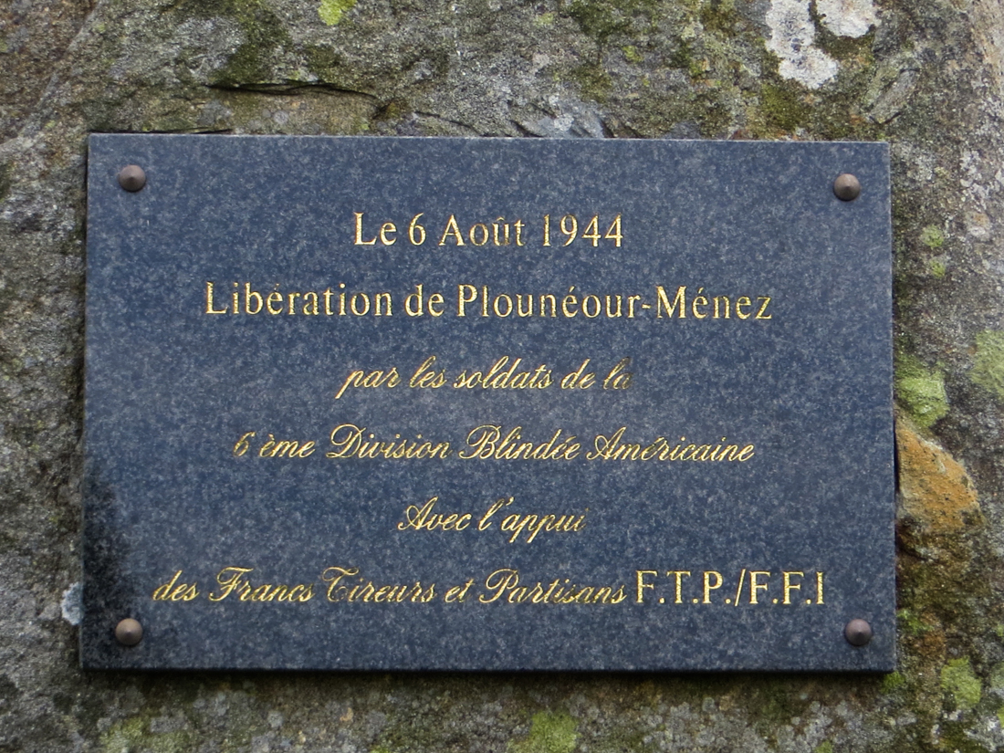 Memorial on the D111 just outside Plouneour-Menez