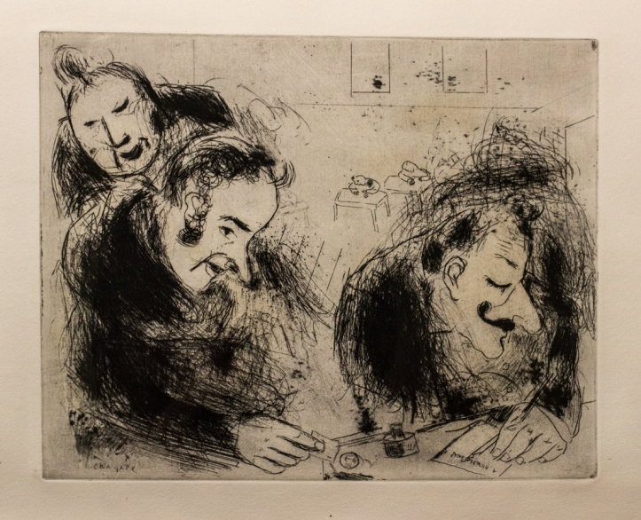 Chagall illustration for Les Ames Mortes