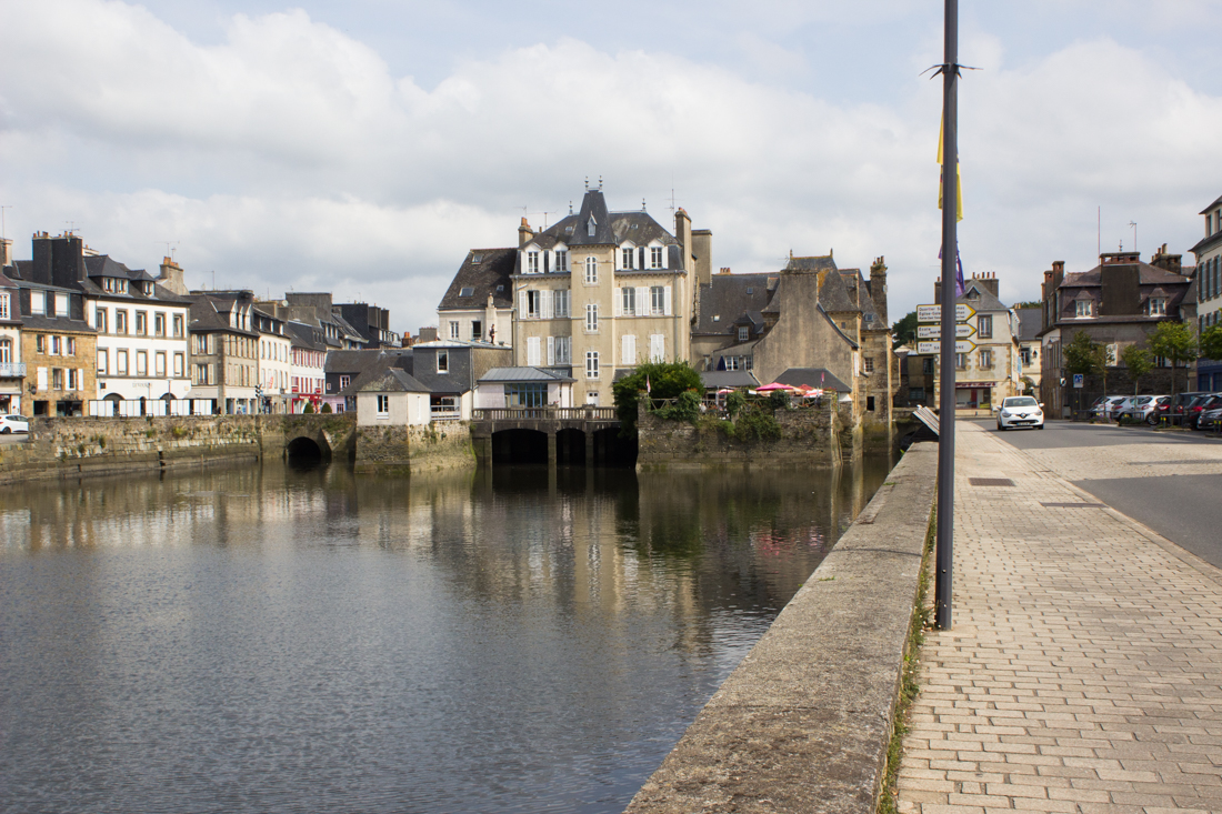 The Rohan Bridge over the Elorn River, Landerneau, and the Cornwall Quay