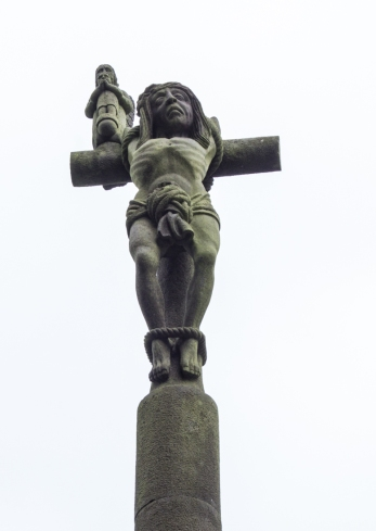 The unrepentant robber on the Calvary, Pencran