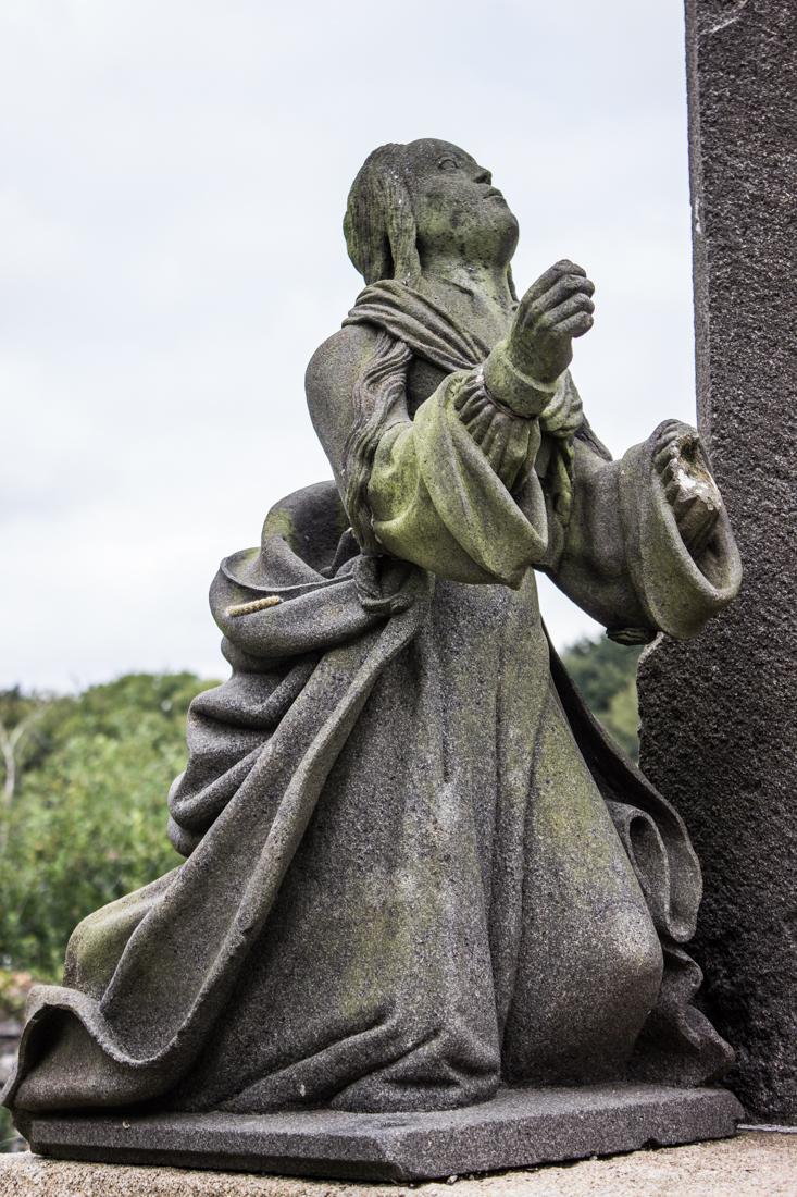 Mary Magdalene at the base of the Calvary, Pencran Church