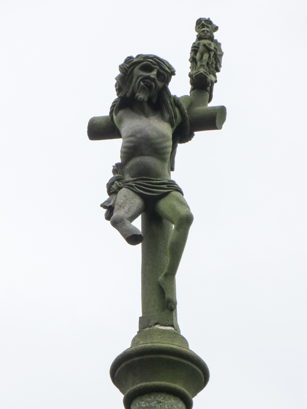 The unrepentant robber on the Calvary at Pencran Church
