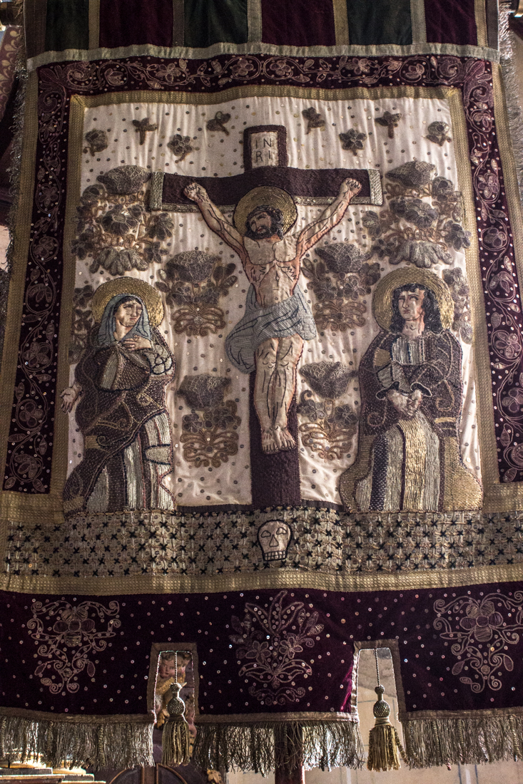 The processional banner of St Peter