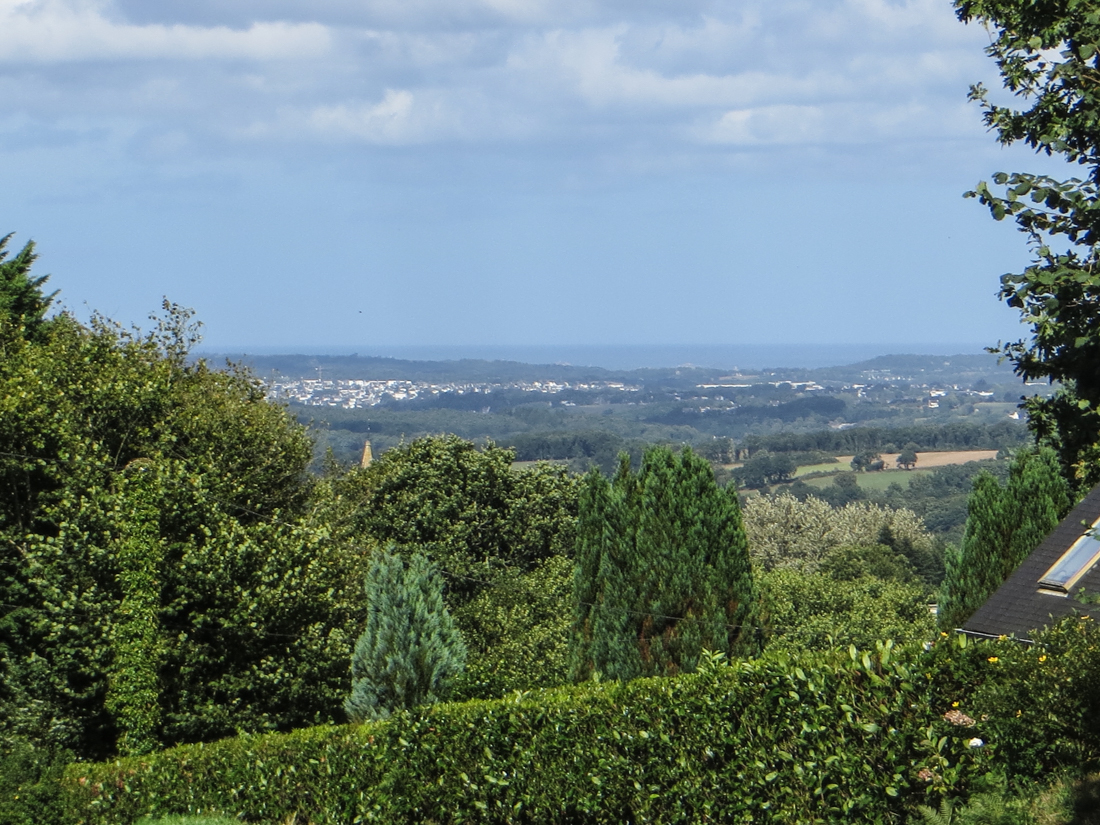 The view from Quillien, towards Morlaix & the sea