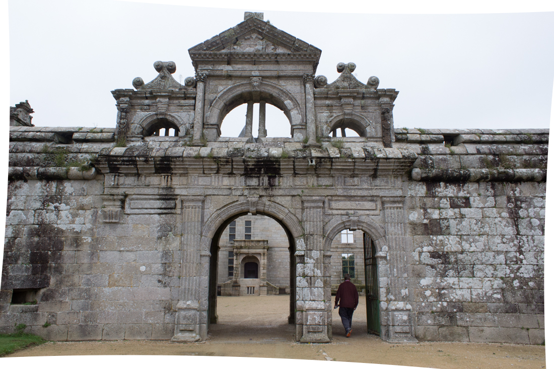 The walls and inner gate to The Chateau of Kerjean