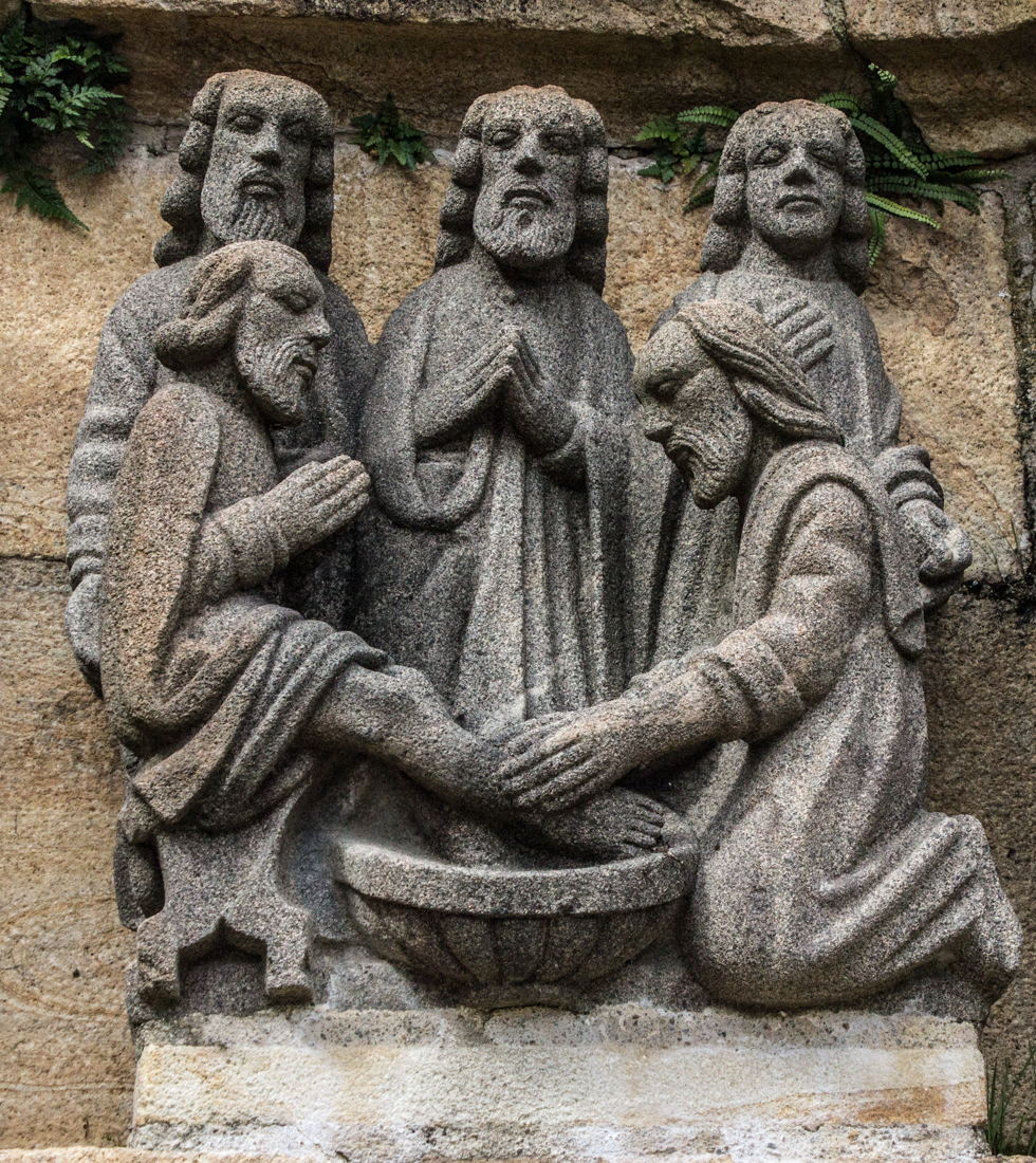 The washing of the feet, Calvary of Plougastel Daoulas, South Side