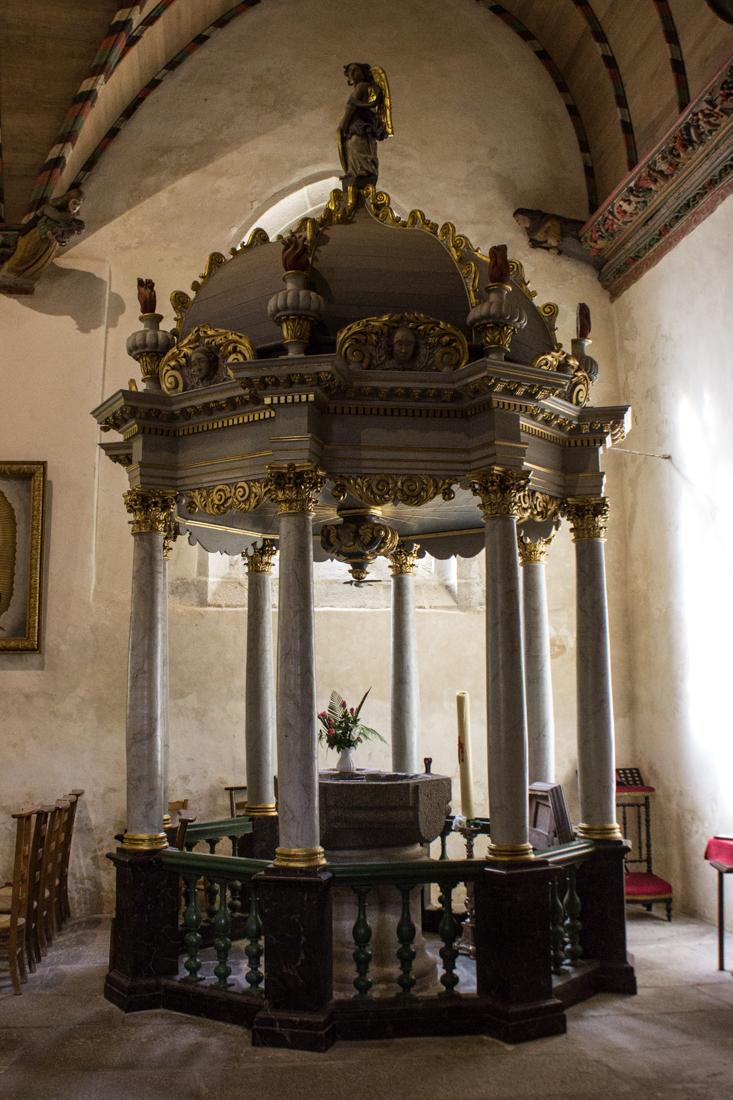 The Baptistry in the Church of Croas Batz, Roscoff
