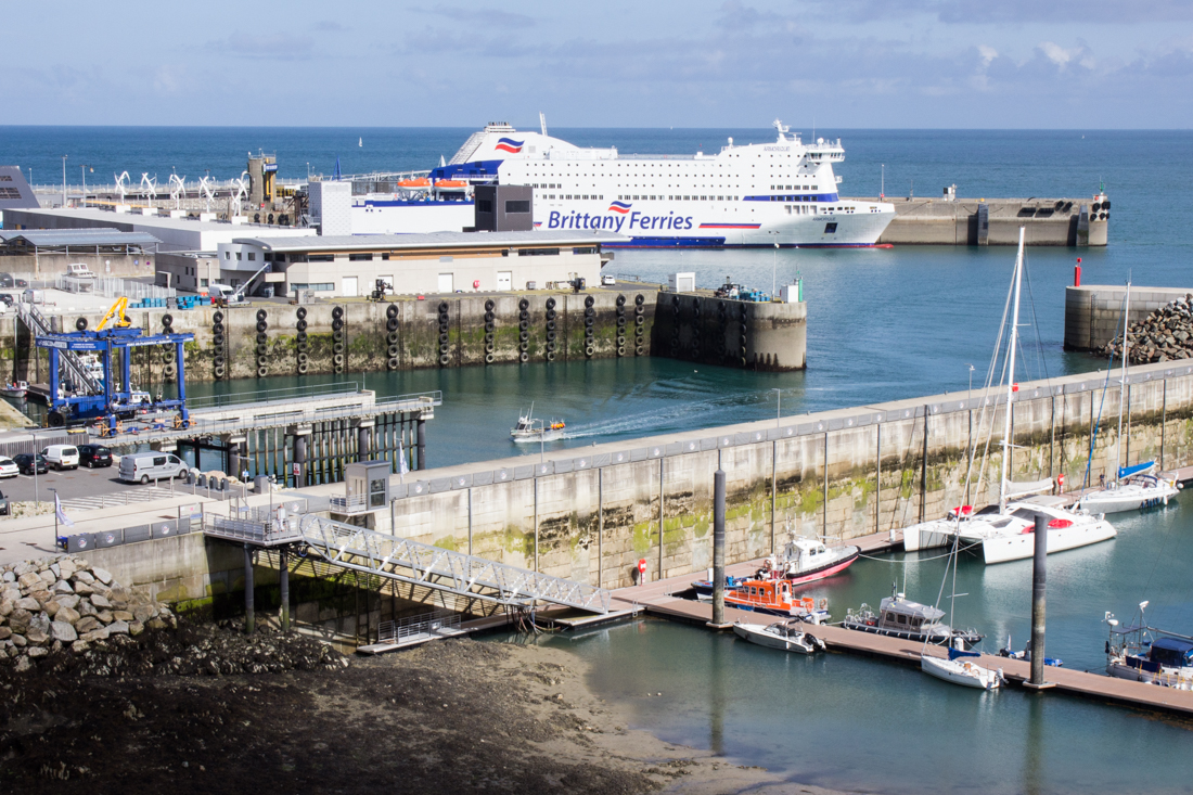 The new deepwater port and Brittany Ferries in Roscoff