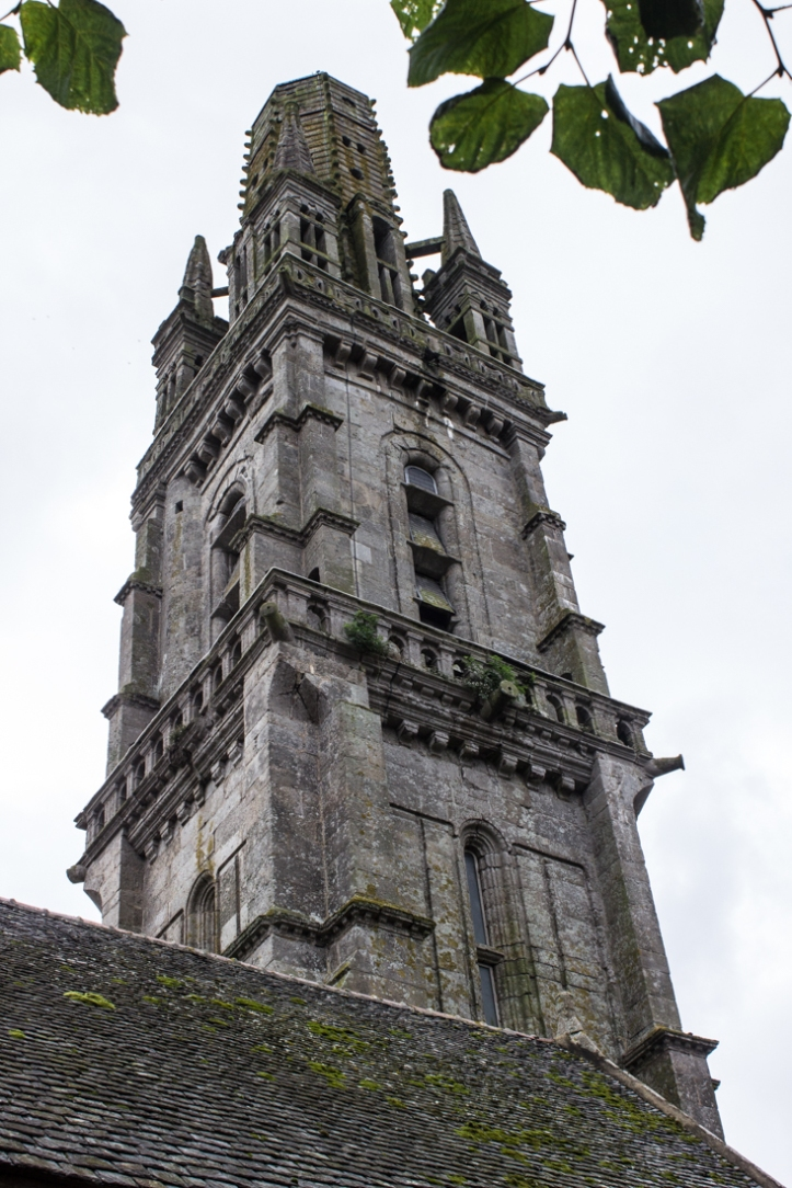 The spire & bell tower (1573, Church of Notre Dame, Lampaul-Guimiliau