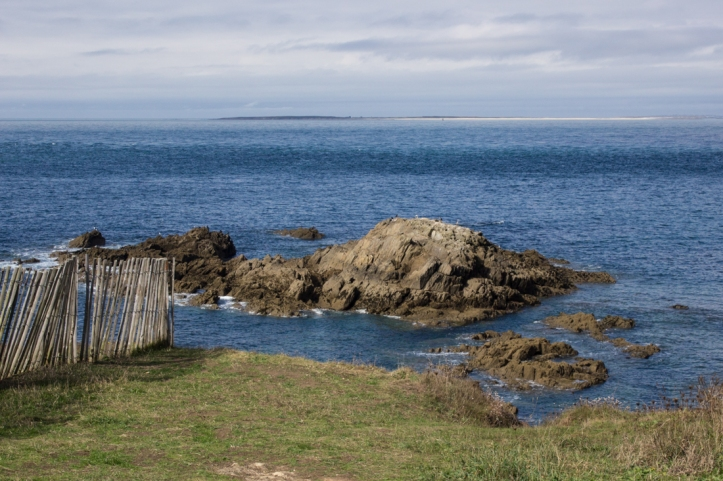 The view towards Le Conquet from Pointe St Mathieu