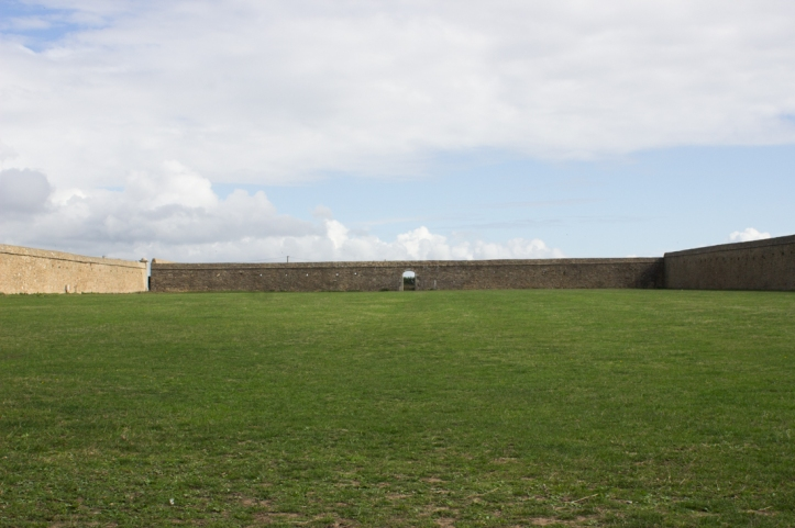 Restored walls of Abbey gardens
