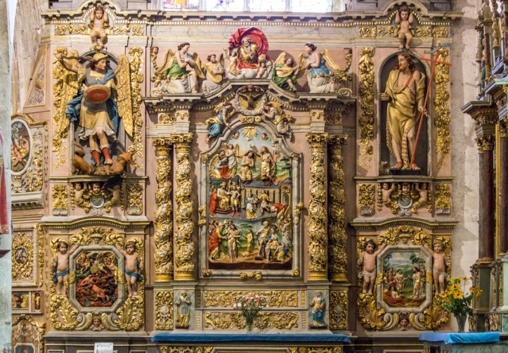 The Altar piece of St John the Baptist, Notre Dame de Lampaul-Guimiliau