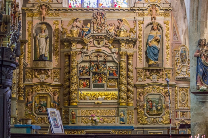 The Altar piece of the Passion, 17C, Notre Dame de Lampaul-Guimiliau