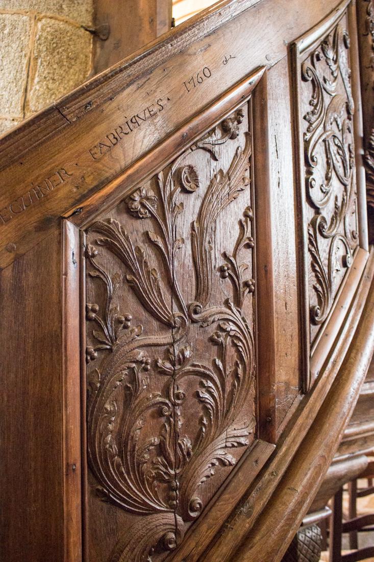 Carved pulpit of 1759-60, Notre Dame de Lampaul-Guimiliau