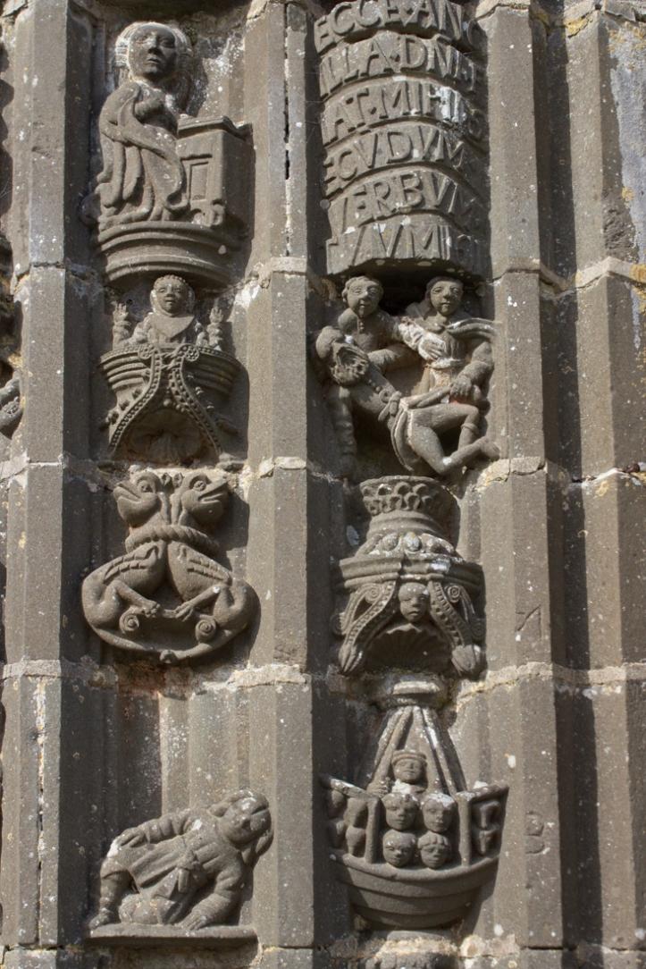 Noah's Ark (bottom R), above that a drunken Noah,