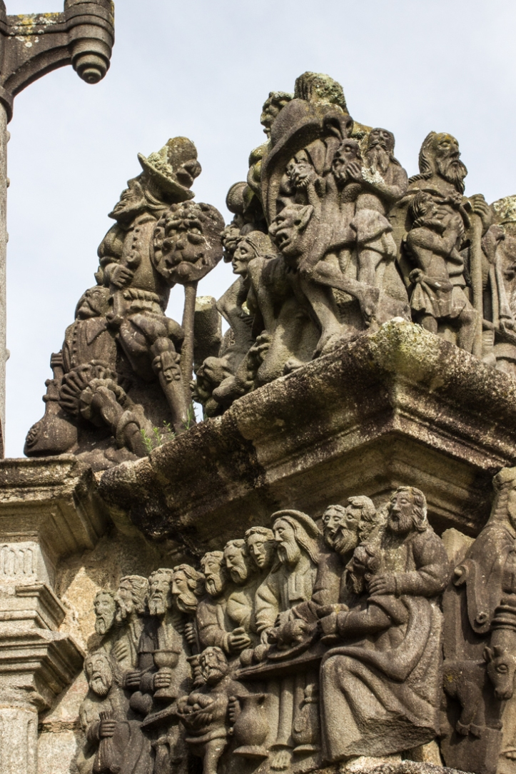 Hell, on the West Face of the Calvary, St Guimiliau Church