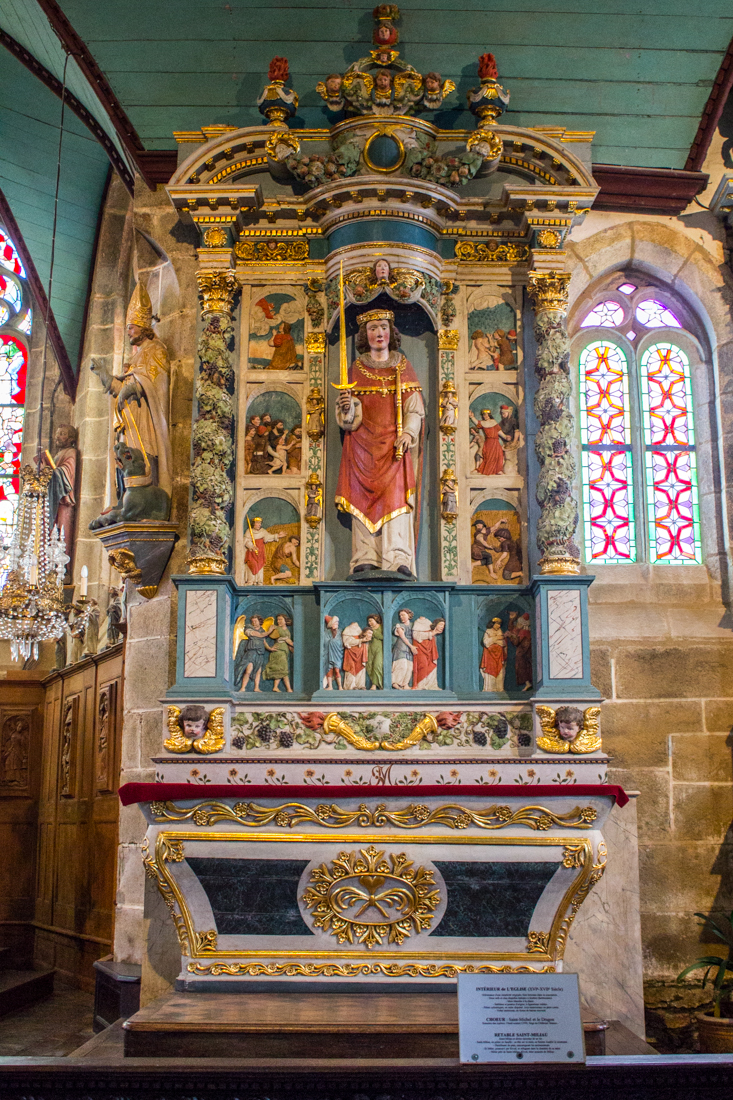 The Altarpiece of St Guimiliau, in the Church of St Guimiliau