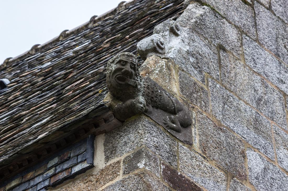 Lion/lizard on the Church of St Suliau, Sizun