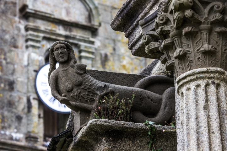 Siren on the Church of St Suliau, Sizun