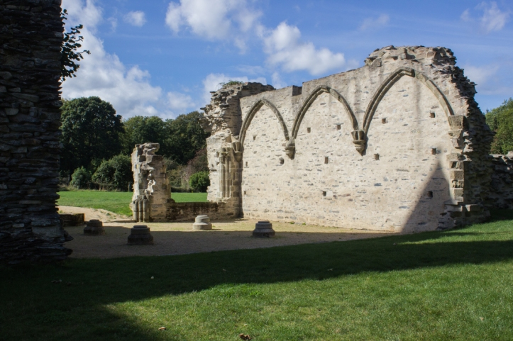 The outline of the Chapter House, Abbey of Le Relecq