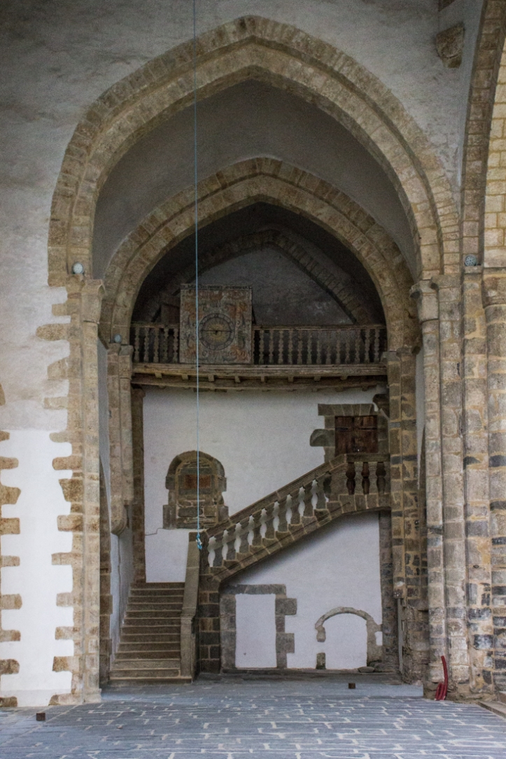 The night stair in the Abbey of Le Relecq