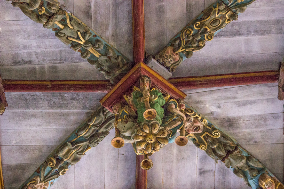 The roof bosses, St German d'Auxerre in Pleyben